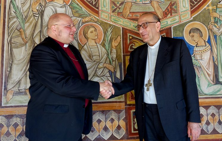 Omella amb el bisbe anglicà López Lozano