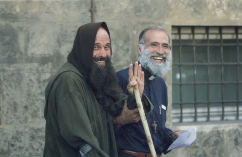 Pino Vitrano i Biagio Conte (promotors de la Missió)
